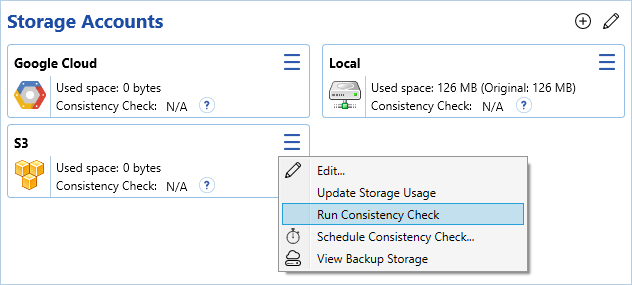 Performing a Consistency Check   Help Center