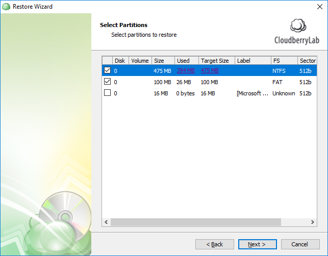 Restore Image-Based Backup to Physical Disk | Help Center
